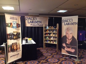 Marketing materials and booth design for Patti Larsen at Hal-Con 2012